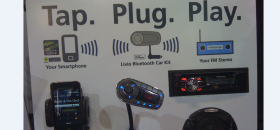 Livio Radio Bluetooth kit connects to Grooveshark