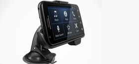 Motorola Atrix 4G in car dock