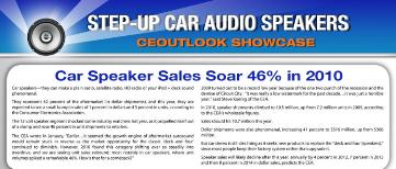 car speakers rebound in 2010