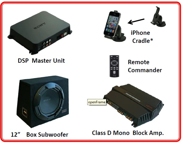 Sony XDP-PK1000 car audio iPhone system