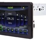 Power Acoustik tablet car radio