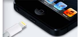 iPhone 5 Apple with dock