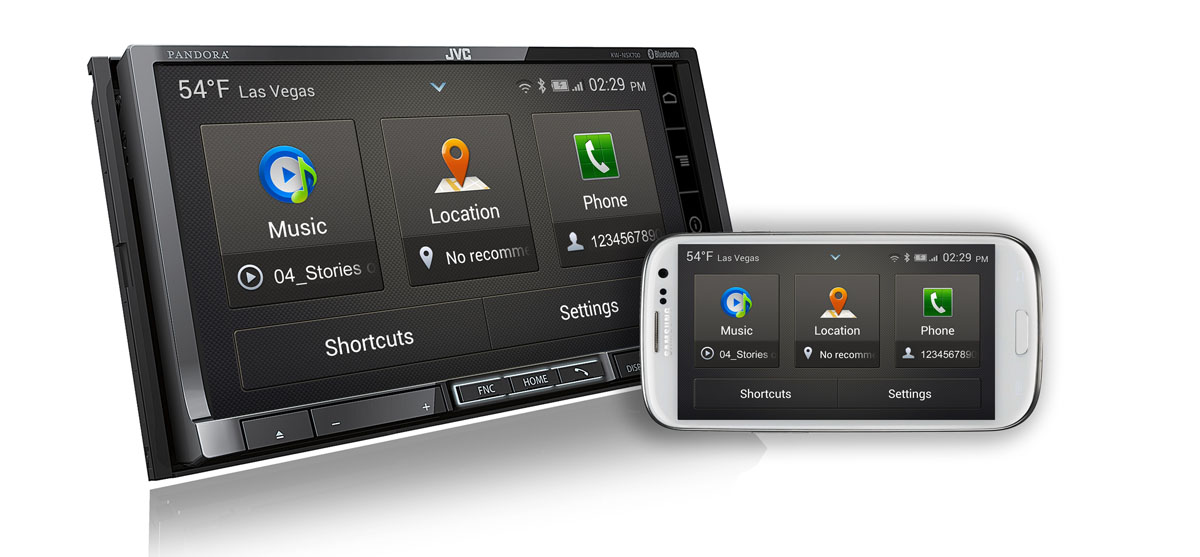 Sony, JVC Car Radios Now Mirror 2 Samsung Smartphones