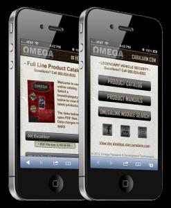 Omega web site