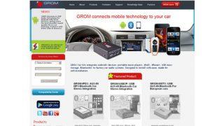 GROM Audio web site