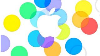 Apple logo press event