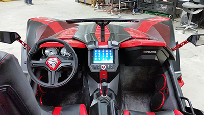 MTX Audio system in Polaris Slingshot