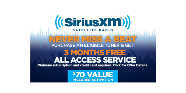 sirius satellite radio deals