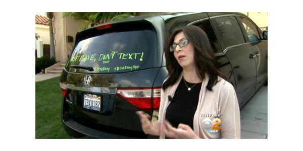 anti texting while driving campaign Grabie