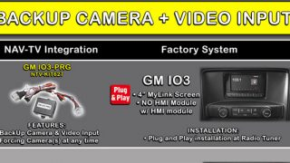 NAV-TV GM IO backup cam interface