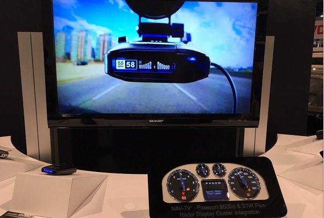 ESCORT NAV-TV factory integrated radar display