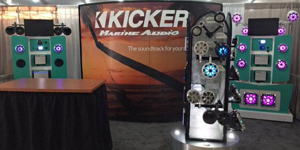 Kicker displays at Miami Boat Show