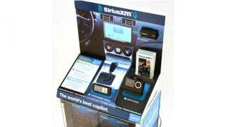 SiriusXM display merchandiser