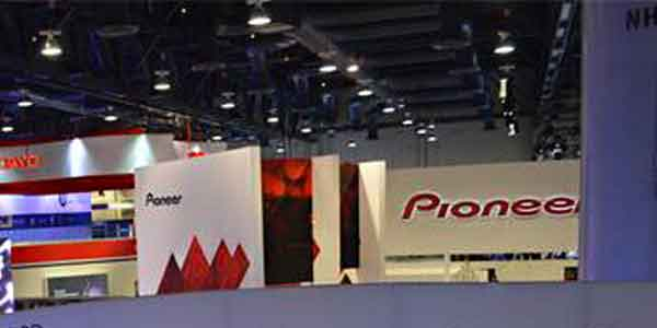Pioneer booth at CES