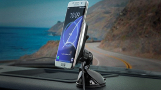 Scosche MagicMount CHARGE with Qi wireless charging for phone