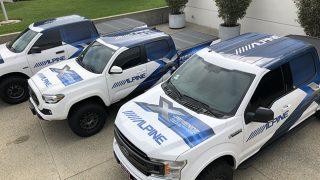 Alpine demo trucks
