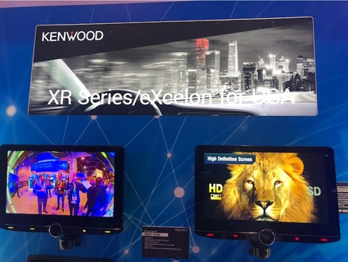 Kenwood shows radios with 10-inch screens