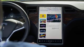 Tesla Model S screen
