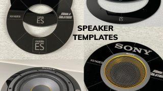 Mobile Solutions speaker templates for Sony